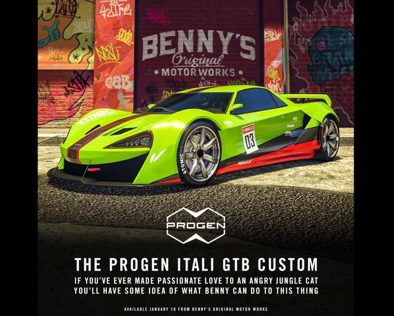 GTA 線上模式 - 現已推出培羅義塔力 GTB 改裝款