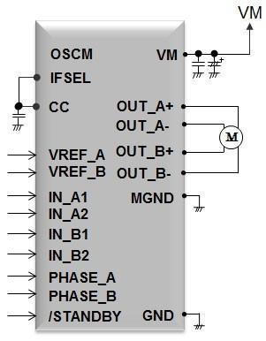 東芝推出無需電流檢測電阻的雙極性步進馬達驅動IC