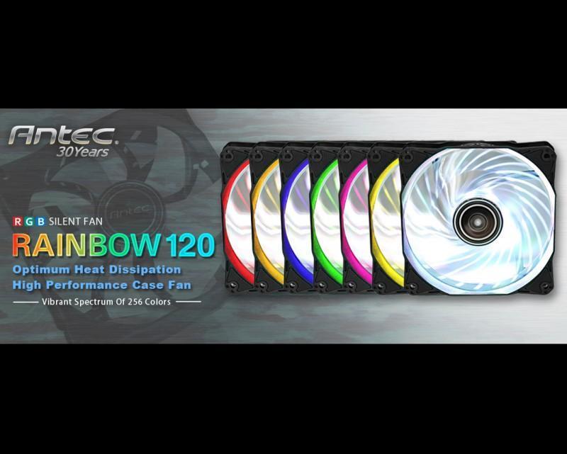 安鈦克首款RGB靜音散熱風扇Rainbow 120來了!