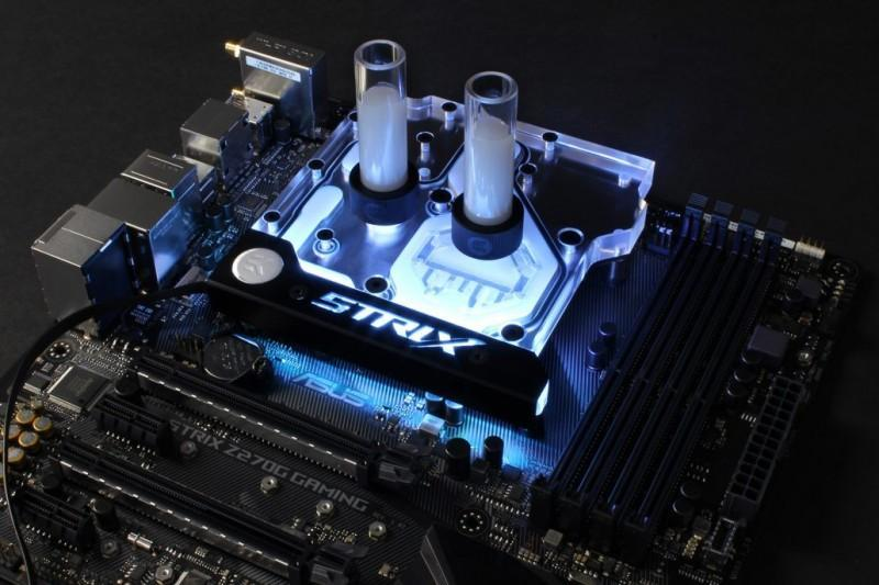 EK推出EK-FB ASUS Z270E Strix RGB Monoblock水冷頭,RGB燈光可使用AURA Sync控制