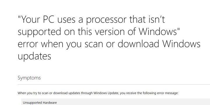 微軟關閉 Windows 7/8.1 使用 Ryzen 與 Kaby Lake 處理器的系統更新