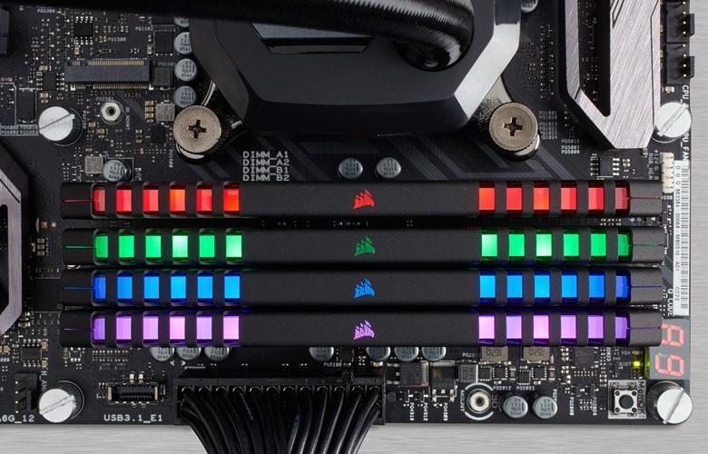 CORSAIR VENGEANCE RGB 發光記憶體登場,導光均勻不須外接線材可透過軟體控制