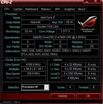 Intel I7-4790K / MAXIMUS VII HERO / HyperX FURY 8G*4 / T81 - XFastest - CPU