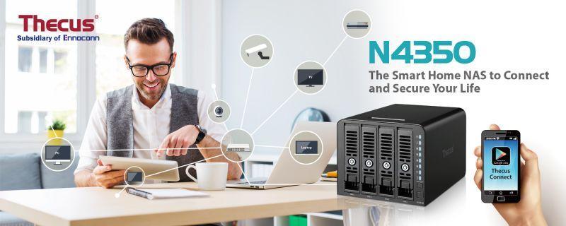 Thecus(R)推出新一代入門級 4-bay NAS – N4350