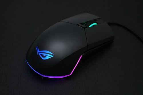 側鍵模組化 RGB競彩 兼容左右手 ASUS ROG Pugio 電競滑鼠評測