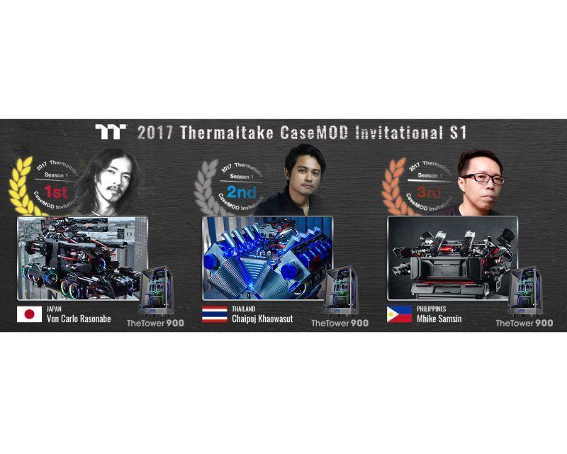 《2017曜越電腦MOD改裝達人爭霸戰》第一季前三強出爐!日本選手奪冠 泰國和菲律賓選手...