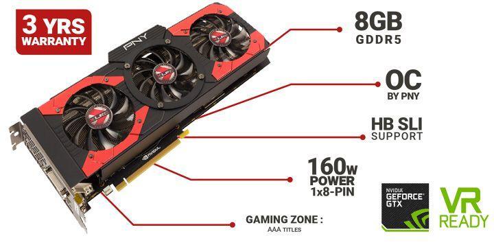 PNY 推出 GeForce GTX 1070 XLR8 OC 顯卡