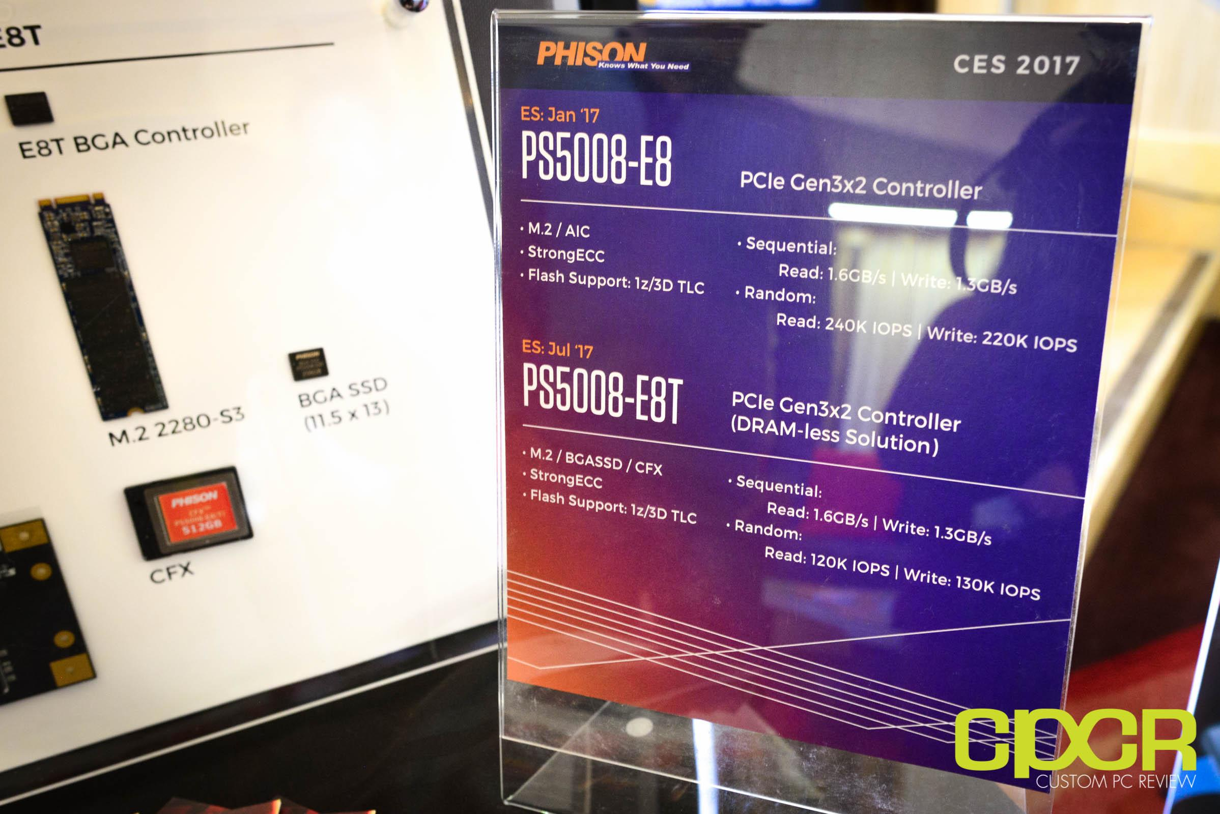 普及NVMe!群聯秀入門新控制器S5008-E8T:自帶HMB - XFastest - phison-e8-ssd-controller-ces-2017-custom-pc-review-3.jpg