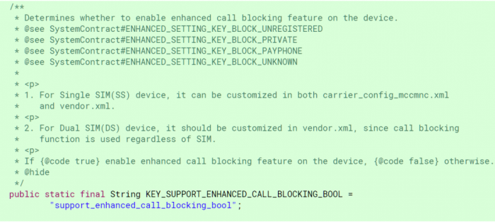 Android P將加強呼叫攔截,向騷擾電話說拜拜 - XFastest - Android-P-Call-Blocking-Carrier-Configuration-1024x463.png