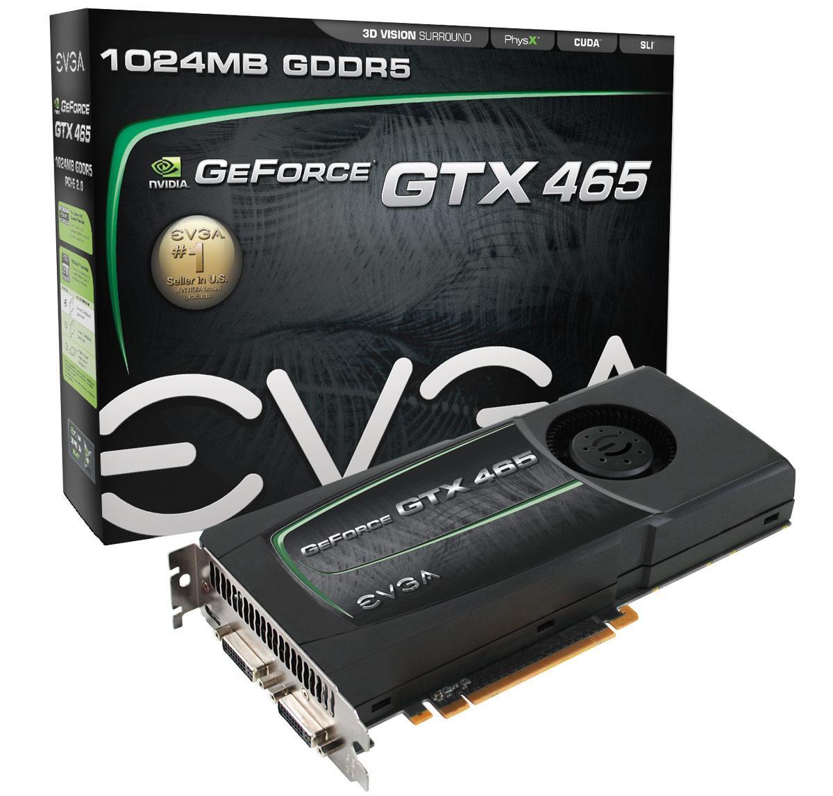 EVGA社制NVIDIA Geforce GTX465搭载制品発表
