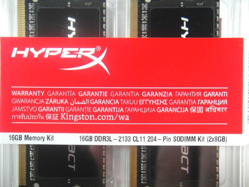 極致玩家的最愛–Kingston HyperX IMPACT DDR3L-2133 16GB Kit評測