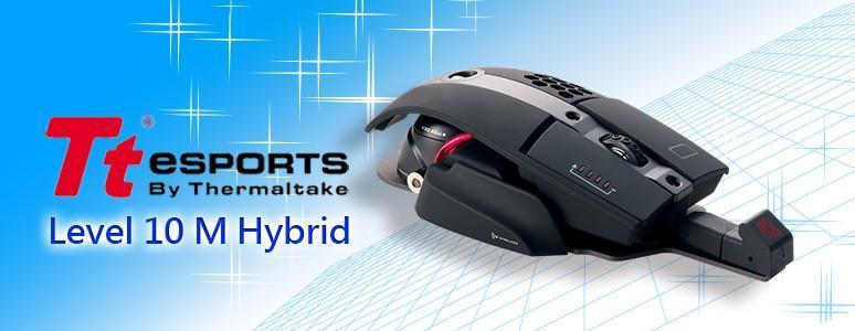 [XF] Tt eSPORTS詮釋解構美學又一力作:Level 10 M Hybrid 雙模電競滑鼠