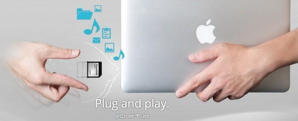 創見為MacBook 發佈 JetDrive SD擴展卡 最大128GB