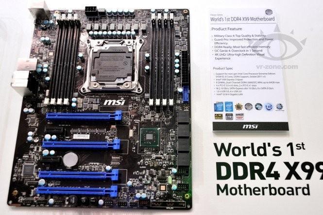 新世代產品才是重點,MSI 展出採 DDR4 記憶體的 X99 主機板