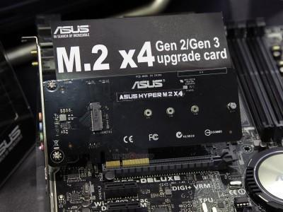 Asus 推出 Hyper M.2 x4 轉接卡