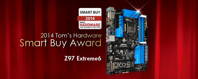 華擎Z97 Extreme6勇奪2014 Tom's Hardware Smart Buy大獎