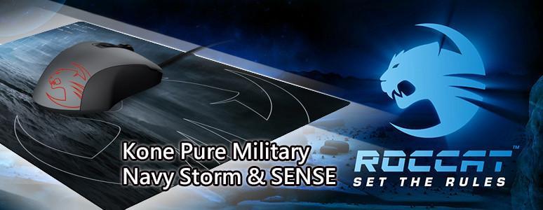 [XF] 電競軍武 滿點組合 ROCCAT Kone Pure Military - Navy Storm滑鼠及SENSE鼠墊簡測