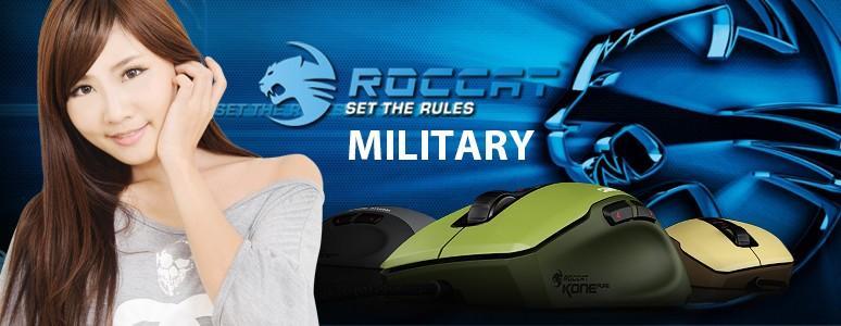 正妹特派員小筑與ROCCAT KONE PURE Military 滑鼠與SENSE Military 滑鼠墊開箱