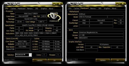 《全球最猛超頻戰板》華擎 X99 OC Formula開創CPU時脈6620.73 MHz超威佳績,雄踞世界冠軍