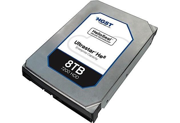 HGST 推出 8TB 容量氦氣硬碟,10TB 的下一代亦開發中