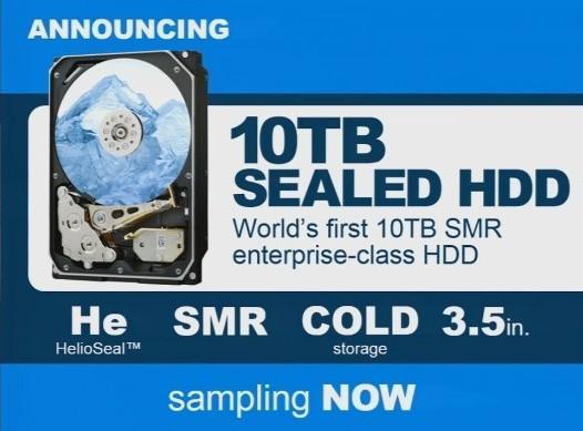 HGST的10TB硬碟量產時間確定:2015年Q1