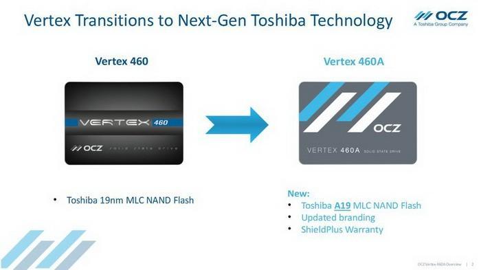 OCZ低調推出升級版Vertex 460A:快閃記憶體、外觀、保固都變了