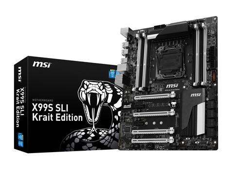 MSI X99S SLI Krait Edition黑白經典款主機板限量首購活動開跑
