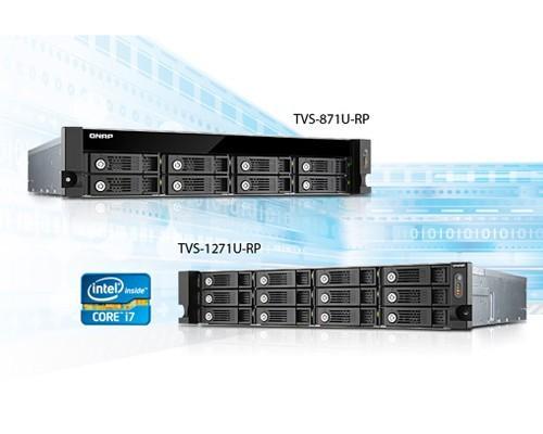 威聯通科技推出搭載 Intel Core i7 四核心處理器高效能 TVS-x71U Turbo vNAS系列