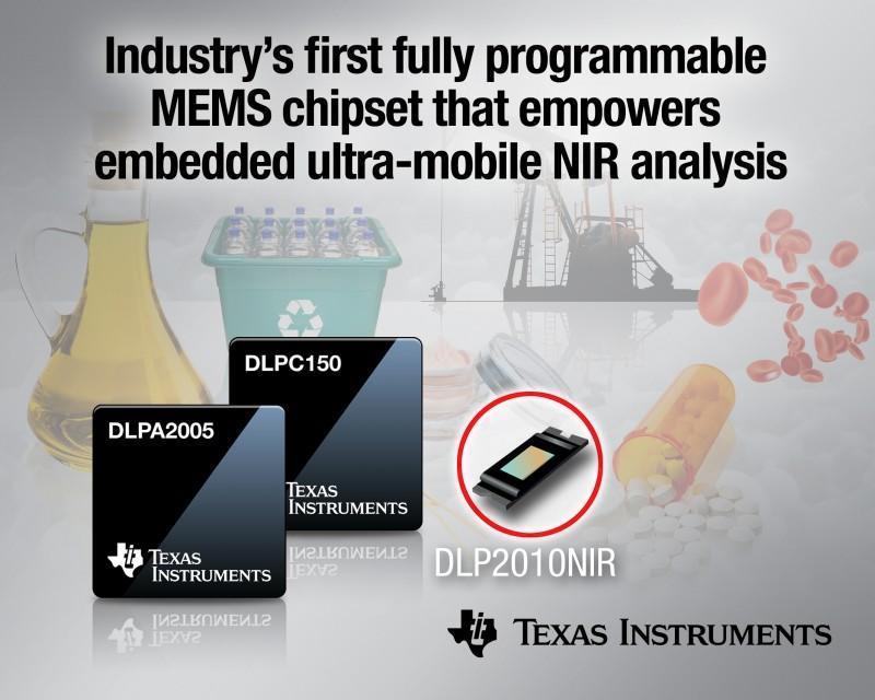 德州儀器推出業界首款可完全編程的MEMS晶片組,實現嵌入式超級行動近紅外線分析