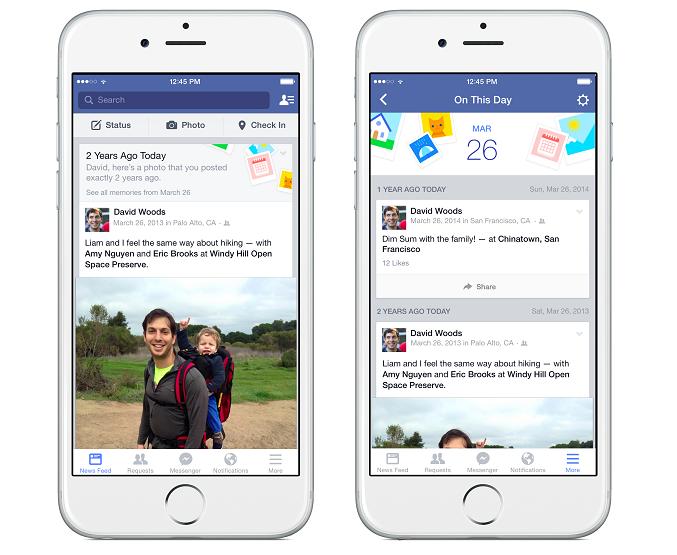 Facebook 推出「On This Day」回顧照片與回憶的新選擇