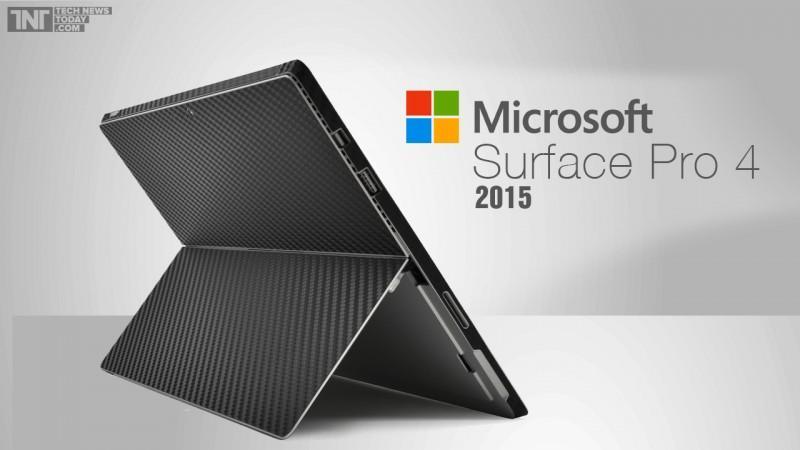 微軟Surface Pro 4平板:14吋4K螢幕,14nm Skylake處理器