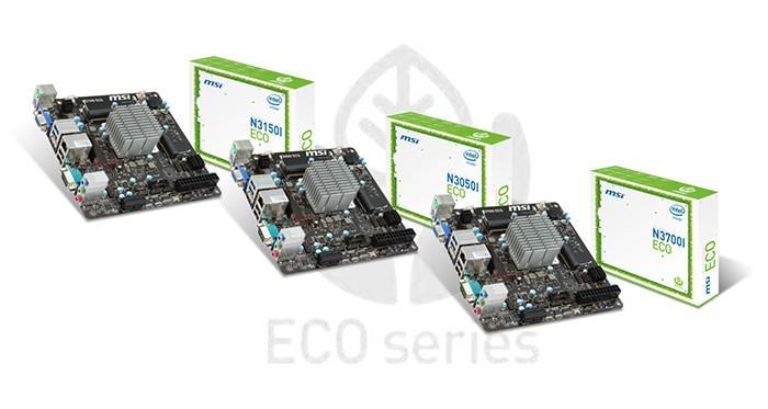 微星發布ECO ITX主機板,內嵌TDP只有6W的14nm Braswell處理器