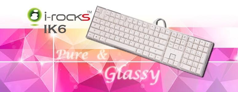 透明純淨 i-rocks IK6水晶鍵盤開箱