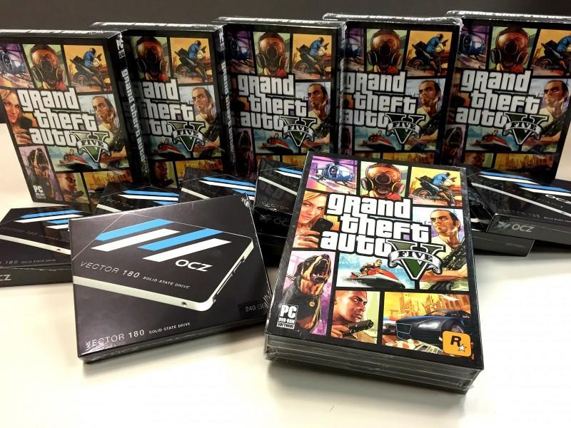 大容量高負載遊戲就是要搭配OCZ SSD一起玩才過癮,OCZ要讓你爽爽遊玩GTA 5抽獎活動開催。