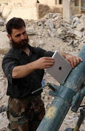 戰場上的iPad-成迫擊砲瞄準器