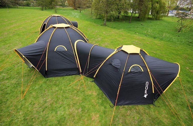 """眾籌沒成功,M2C 公司的""""連體""""帳篷還是開賣了。"""