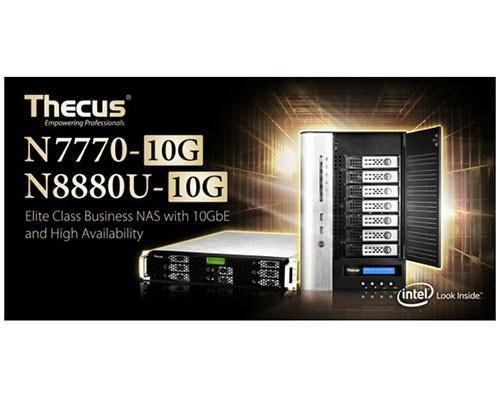 Thecus色卡司發表了全新一代7/ 8 Bay NAS – N7770-10G與N8880U-10G