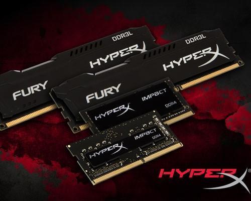 HyperX新貨到 FURY DDR3L、Impact DDR4入列