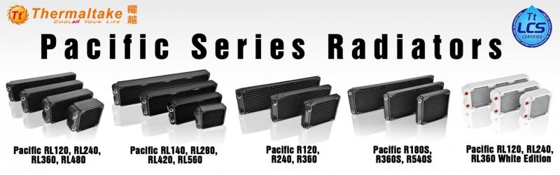曜越Pacific RL & R水冷排全系列 17種規格‧搭配無限締造水冷傳奇