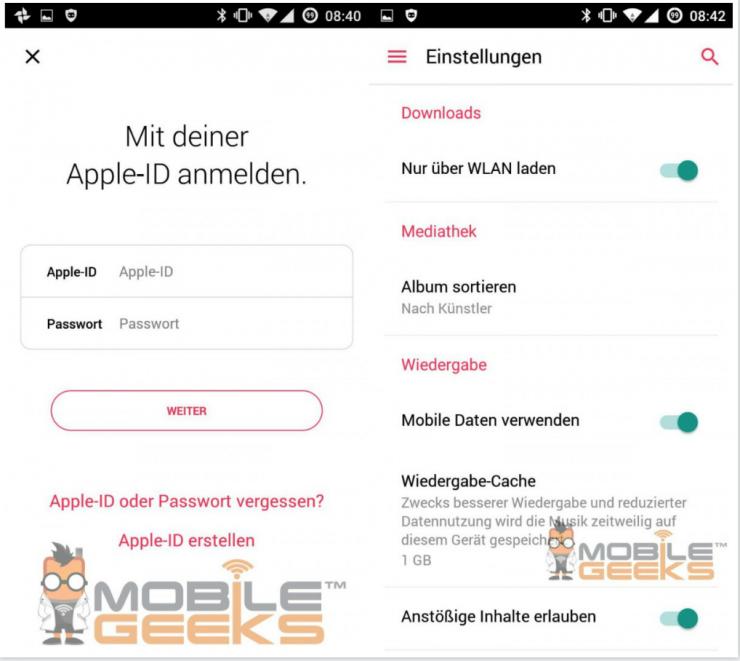 Android版Apple Music介面曝光,濃濃的原生安卓風