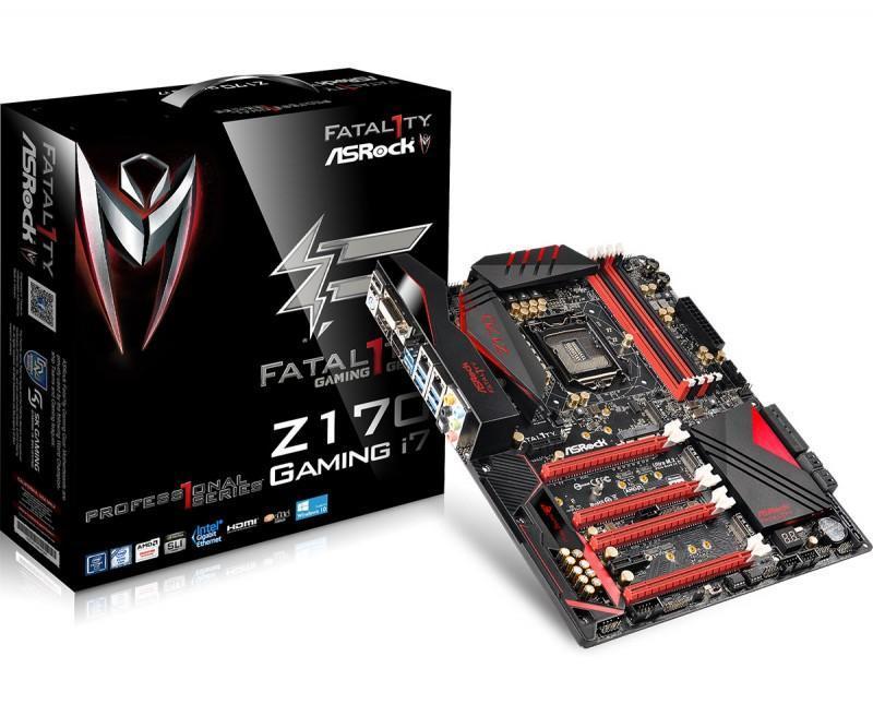 3個M.2組RAID,挑戰PCH頻寬極限,ASRock Fatal1ty Z170 Professional Gaming i7推出