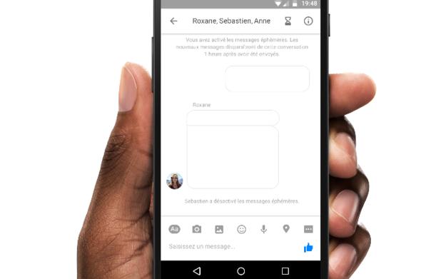 """Facebook Messenger測試""""閱後即焚""""功能"""