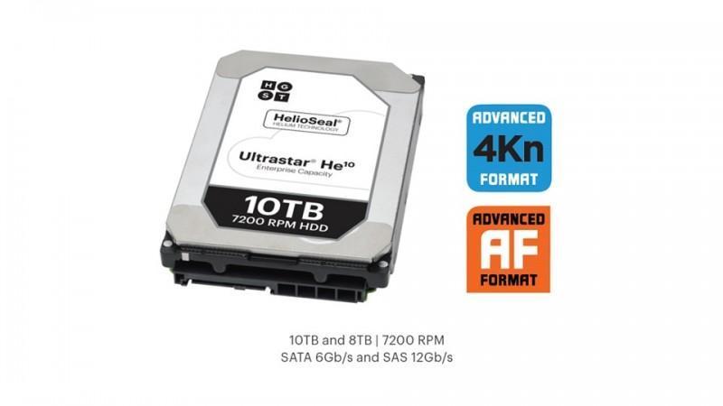 HGST Ultrastar He10登場 市場再添10TB硬碟
