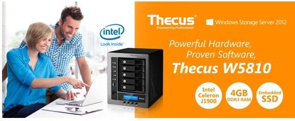 Thecus色卡司推出最新的Windows NAS網路伺服器W5810