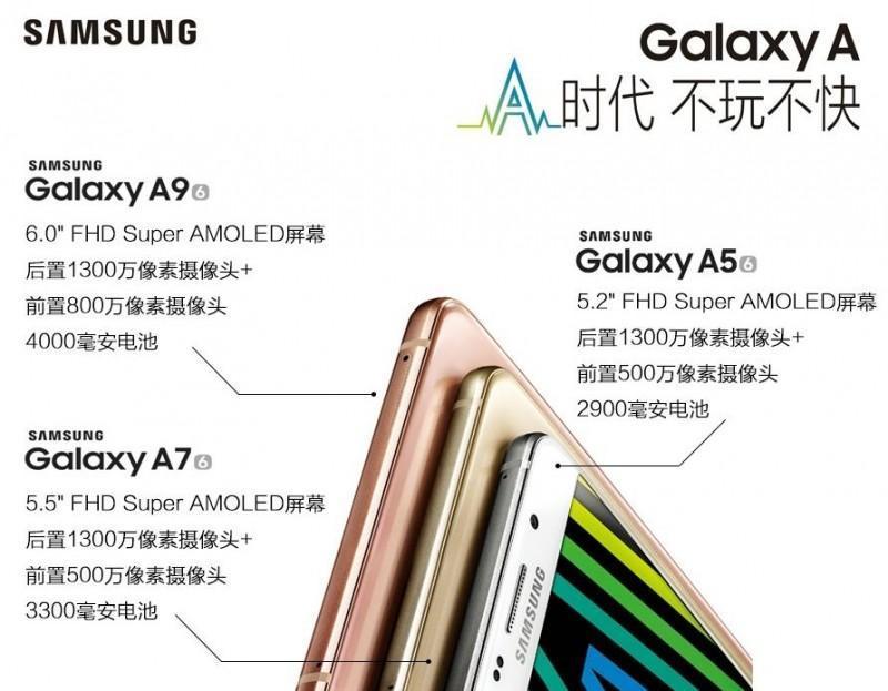 Samsung GALAXY A9規格確認 6吋螢幕與4,000mAh電池