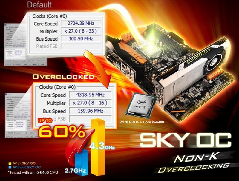 更新BIOS足矣! 華擎Z170主機板全線支援Skylake非K版CPU超頻