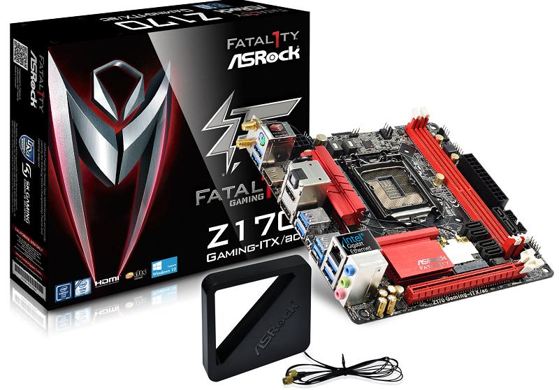 華擎Fatal1ty Z170 Gaming-ITX/ac 擒得國際科技媒體雙料大獎!