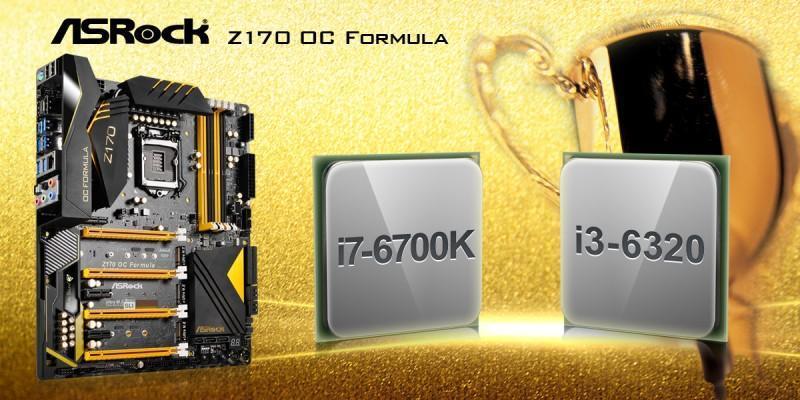 華擎Z170 OC Formula 摘冠Intel Skylake CPU極限超頻王