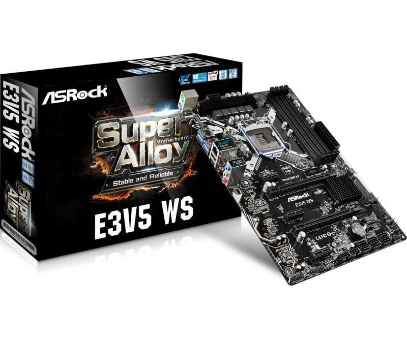 ASRock華擎推出 E3V5系列主機板,使用C232晶片,XEON處理器搭當現身且OC超頻沒有少