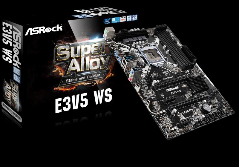 Skylake Xeon處理器最佳搭檔 華擎推出E3V5系列主機板